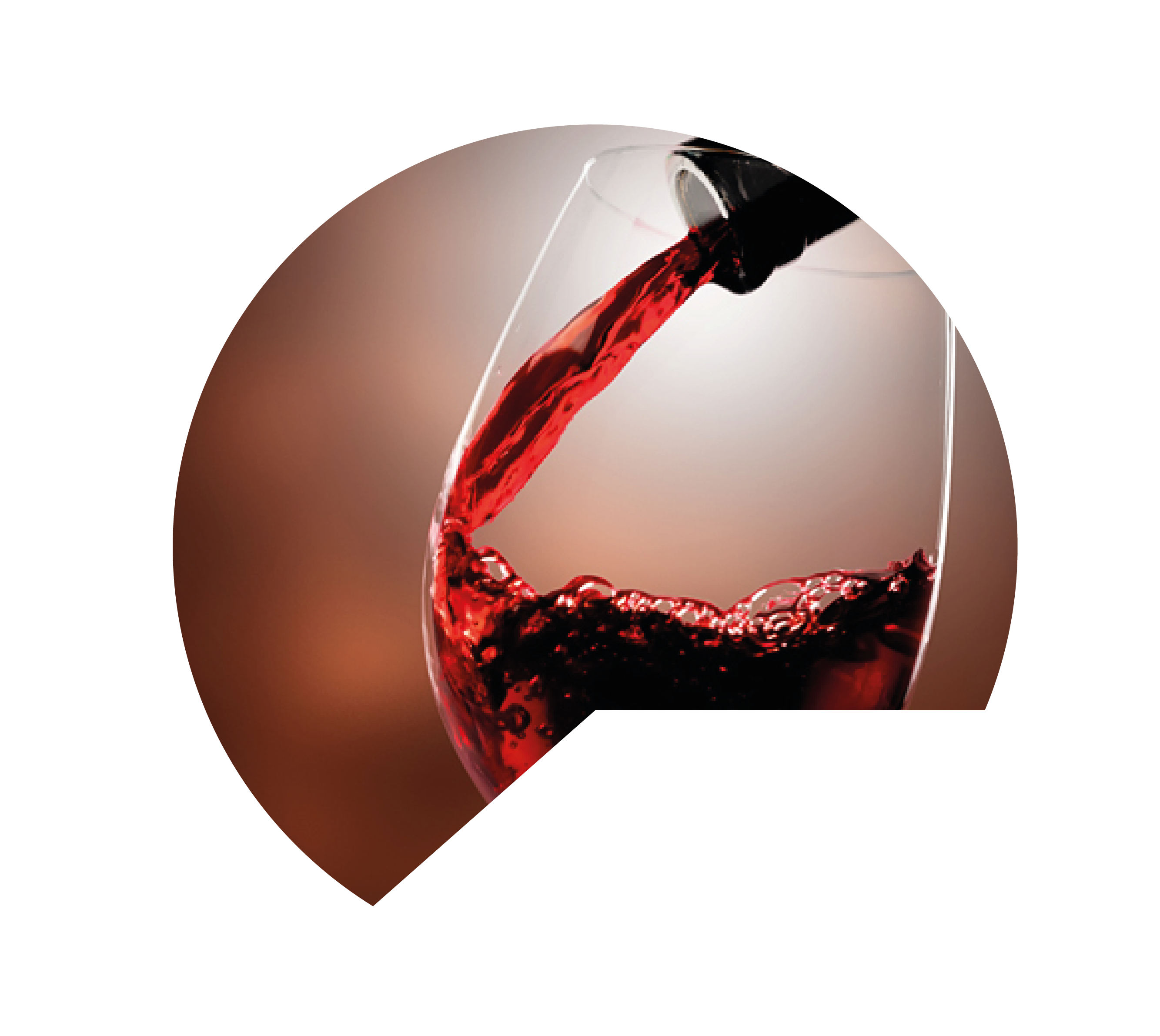 Close up of red wine being poured into a glass.