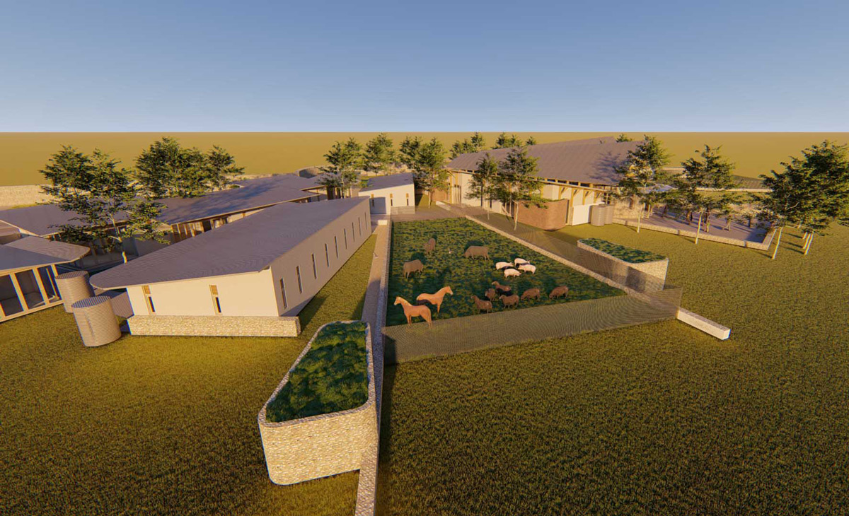 3-dimensional prototype of a school in a rural community in Malawi, Africa by Francois Malan Architects Stellenbosch